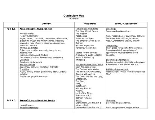 Curriculum Map/Lesson Plan