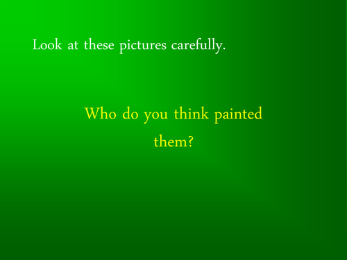 PowerPoint of pictures by Henri Rousseau