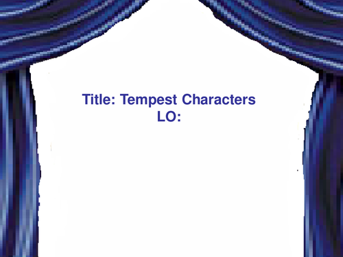 Tempest Character Pics - starter/plen