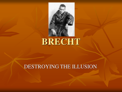 Introduction to Brecht Lesson - presented on PowerPoint