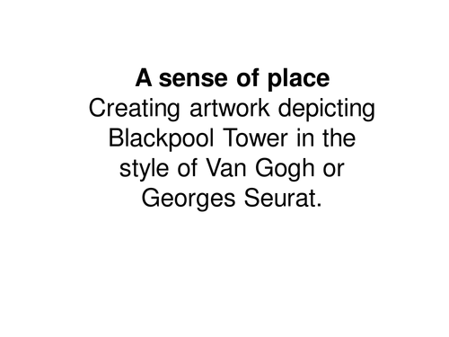 PowerPoint Presentation: A Sense Of Place