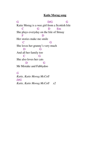 The Katie Morag Song