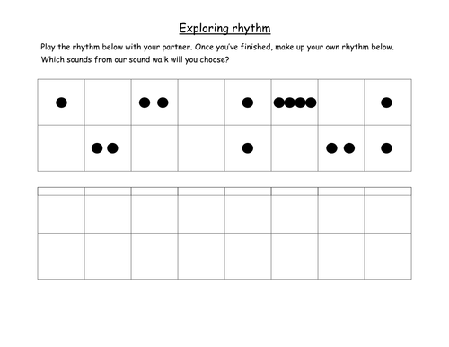 Graphic notation - inventing rhythms