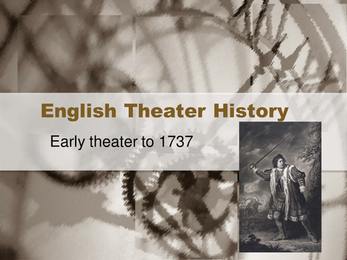 Theater History Presentation