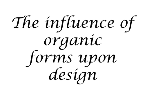 How nature can influence design