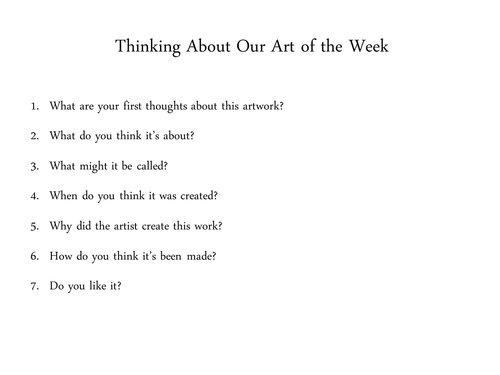 Art of the Week slide show