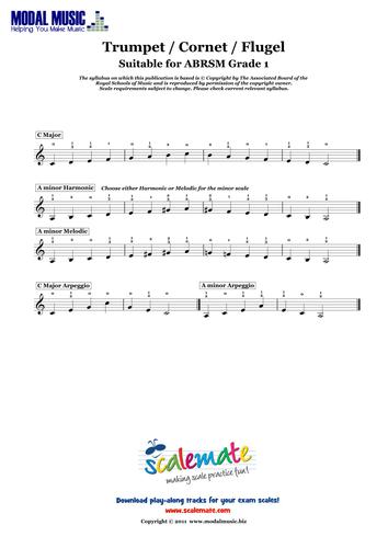 Free Scale Sheet - Grade 1 Cornet (ABRSM)