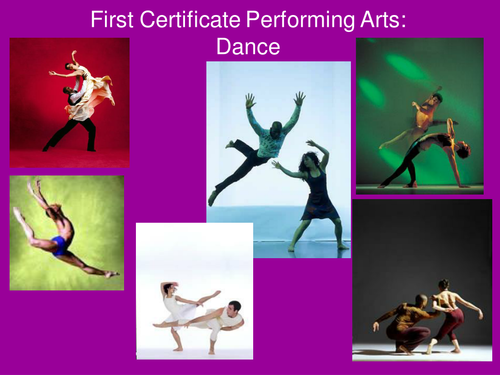 First Certificate Dance Presentation