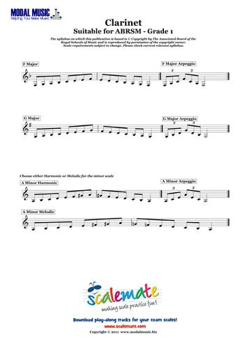 Easy Clarinet Scales