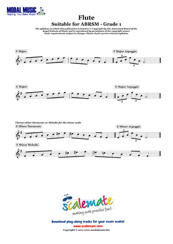 Easy Flute Scales