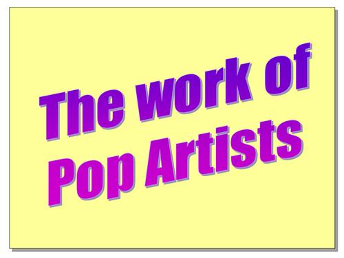 Pop Artists' techniques