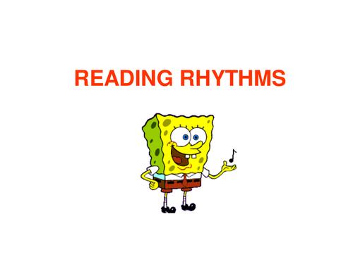 Reading Rhythms - PowerPoint with Spongebob