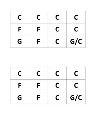 12 Bar Blues Grid
