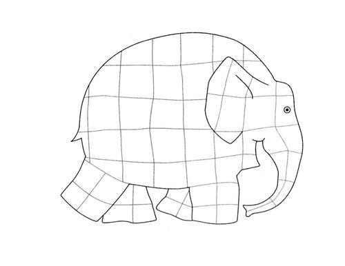 Elmer coloring in sheet
