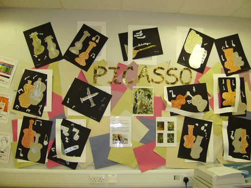 Picasso cubism display