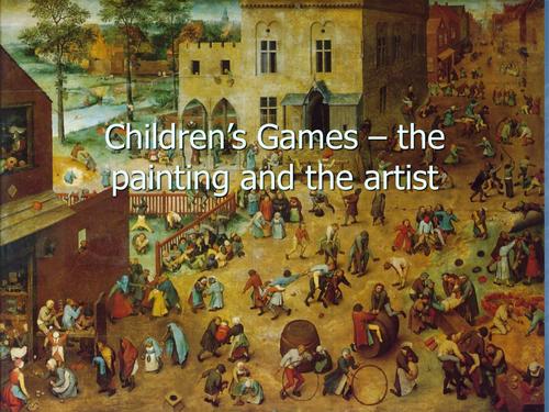 Art history paintings Children's Games