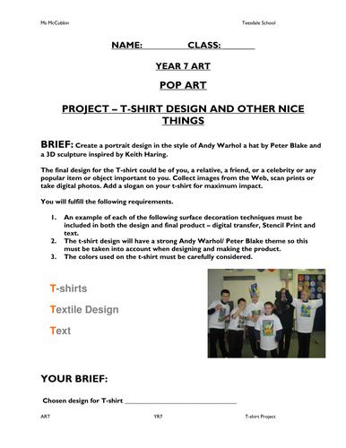 Pop Art Project Workbook