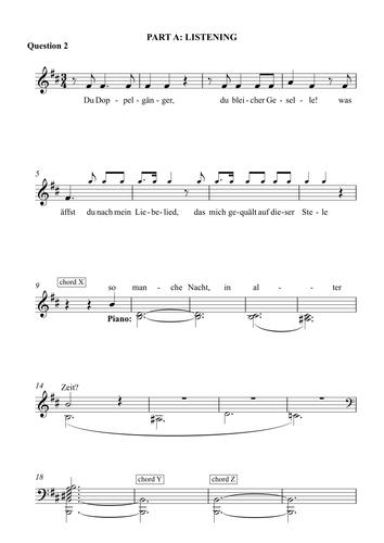 Schubert - 'Der Doppelganger' Listening Question