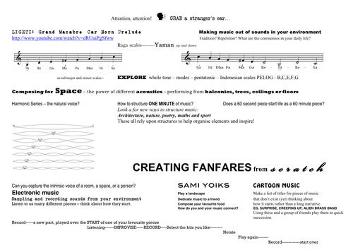 Fanfares - A Composer's Notebook