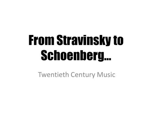 From Stravinsky to Schoenberg