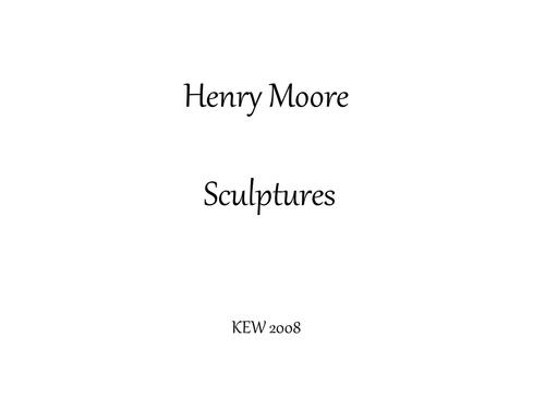 Henry Moore sculpture PowerPoint