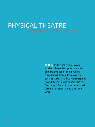 Scheme of work in Physical Theater.