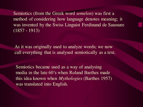 Semiotics an introduction