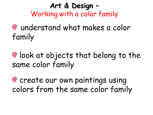 Working with a color family