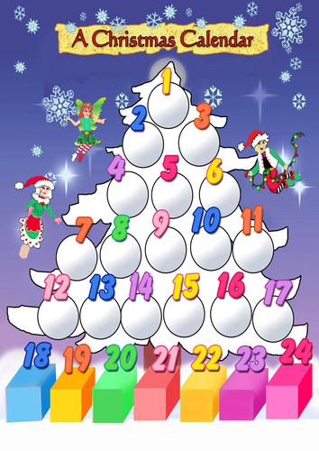 Christmas Tree Calendar Posters