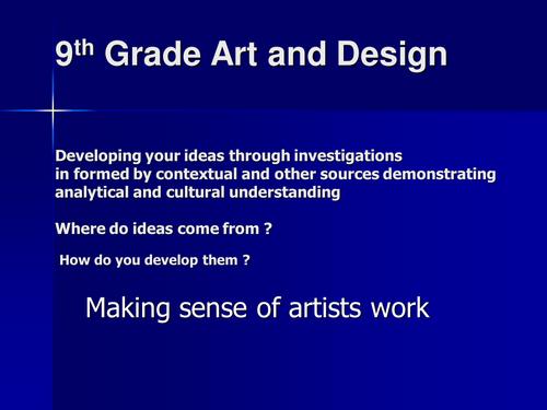 Making sense of artists work: Sculptures