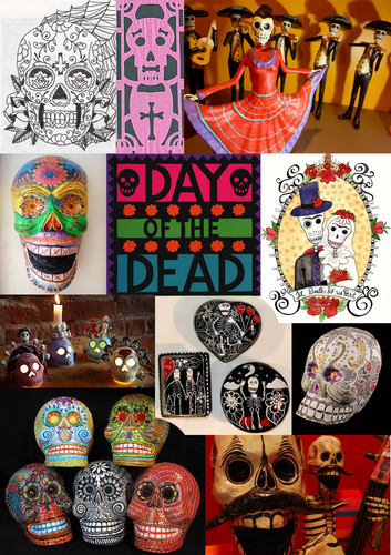 mexican day of the dead visual