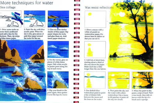 Techniques for water collage step by step guide