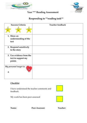 Template for assessing