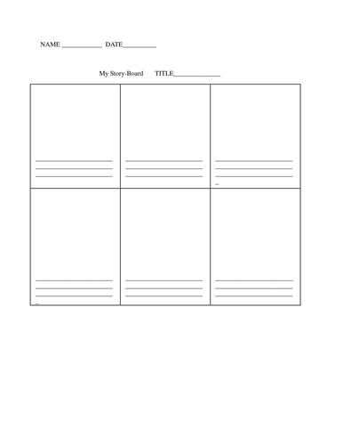 Storybard - Blank Template
