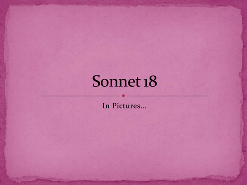 Shakespeare's Sonnet 18 in images