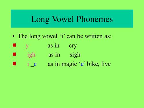 "Long ""i"" sound"