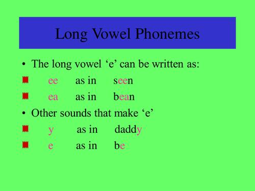 long vowel a