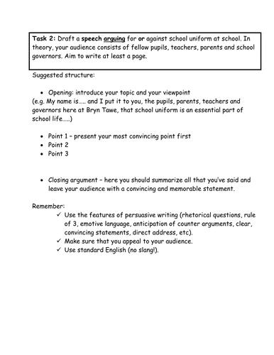 School Uniform Speech
