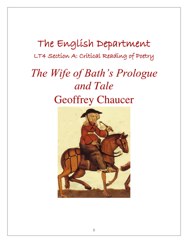 The Wife Of Bath Study Pack