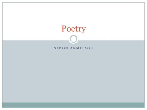 Poetry: Homecoming by tomj268 - Teaching Resources - Tes