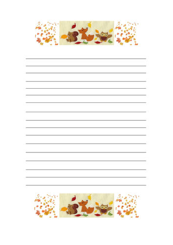 Fall-Themed border papers