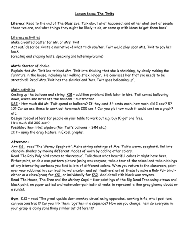 The Twits--activities to use
