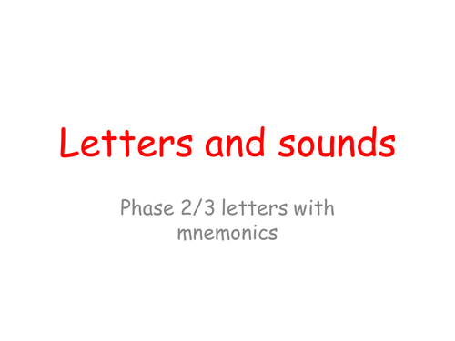 Letter/sound PowerPoint