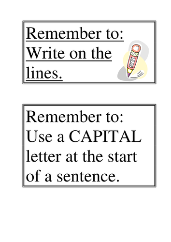 Simple writing prompts