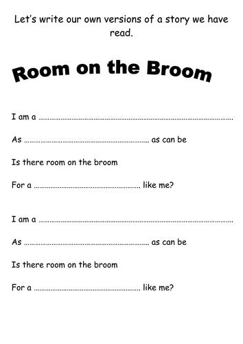 Writing frame - Room on the Broom
