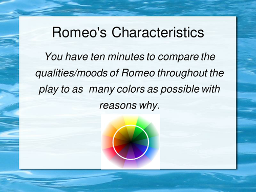 Romeo-links character to colors (starter)