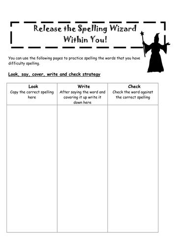 Spelling strategy handout