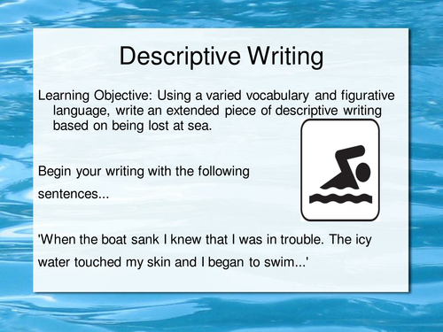 descriptive writing lost at sea by maz teaching resources tes