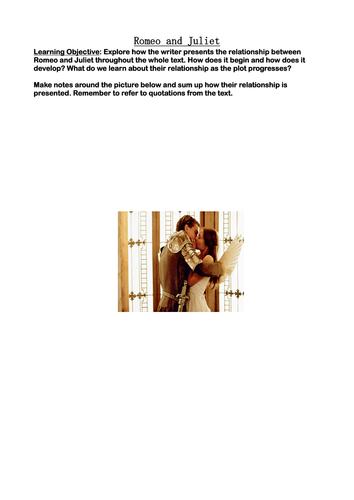 Romeo and Juliet: relationship between R & J