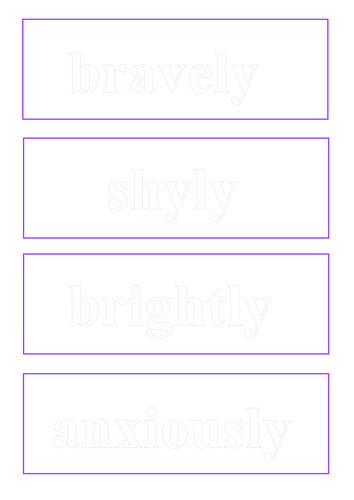 Adverb and Connective cards for displays